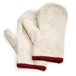 fleece verf handschoen